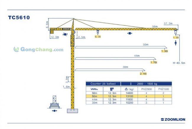 中联重科5610塔吊电路图